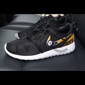 8d966e8c09a9f8 ... Pittsburgh Steelers Nike Roshe One Custom Men .