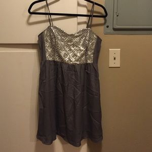 NWOT grey H&M dress with silver sequins.