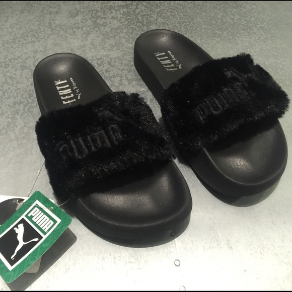 Puma Laukku Koko : Off puma shoes fenty rhianna slides furry black