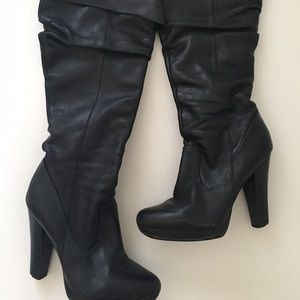 Over The Knee Jessica Simpson Leather Boots