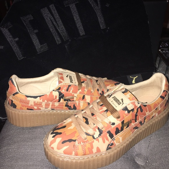 ba700eb390436 Puma Shoes | By Rihanna Fenty Camo Creepers | Poshmark