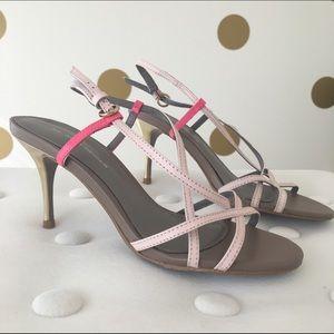 Kurt Geiger Shoes - Kurt Geiger Color Block Pink & Gold Sandals