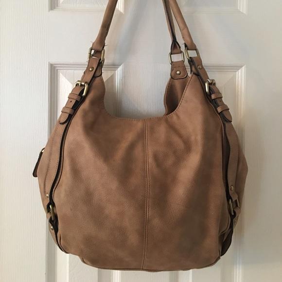 Merona Bags Tan Large Hobo Bag Poshmark