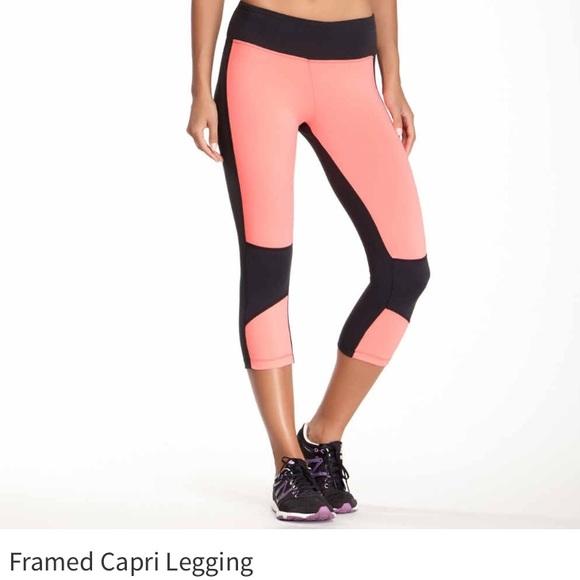 c42c9690285f01 Bally Pants | Total Fitness Framed Capri Leggings | Poshmark