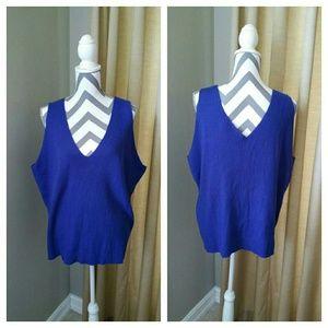 Venezia Royal Blue Knit Tank Top
