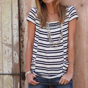 Anthropologie Striped Marin Tunic