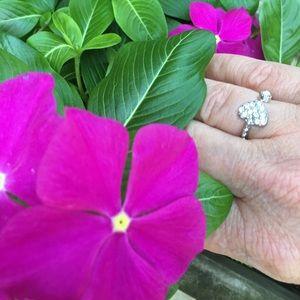 Ashley Bridget Jewelry - Pave Heart Ring