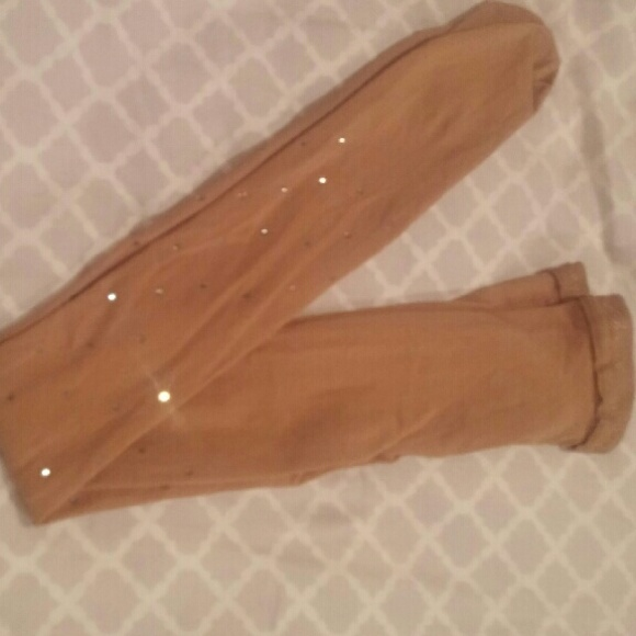 5e3ad4cfbb3a6 Capezio Accessories | Nude Tights With Rhinestones On Them | Poshmark