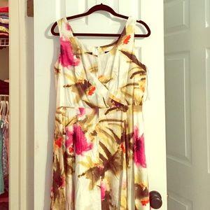 Talbots Dresses - Talbots watercolor print stretch dress 12 PETITE