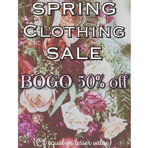 Spring clothing sale! BOGO 50% off 