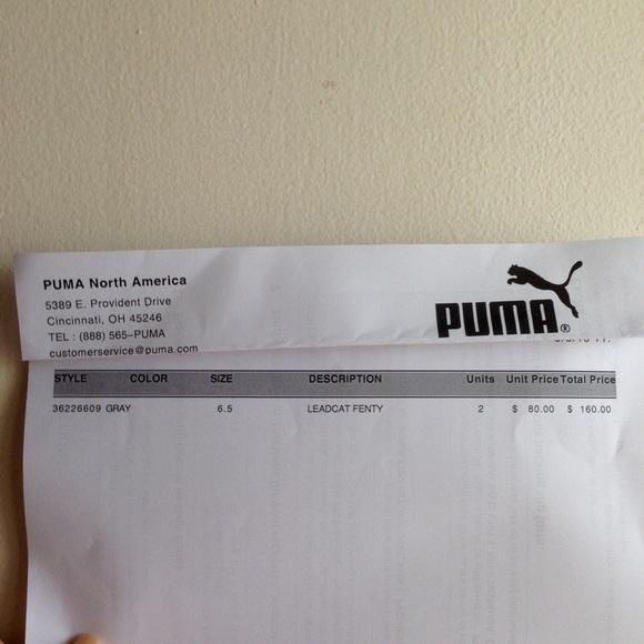 Rihanna Fenty Puma Glir Grå pDM6zb