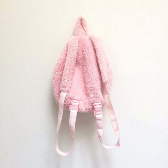 Vintage - SOLD vtg 90s kawaii baby pink furry mini backpack from ...