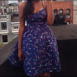 Urban Outfitters Cut Out Geometric Dress W/pockets