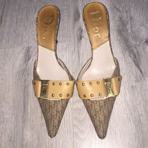 100% AUTHENTIC CHRISTIAN DIOR mule heels