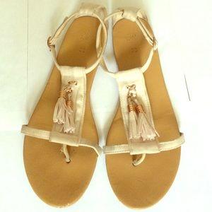 H&M Faux Suede Tassel Sandals