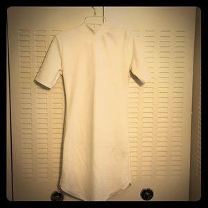 White Textured shirt Dress