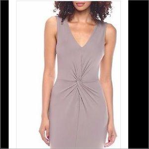 Dresses & Skirts - Taupe Front Twist Dress