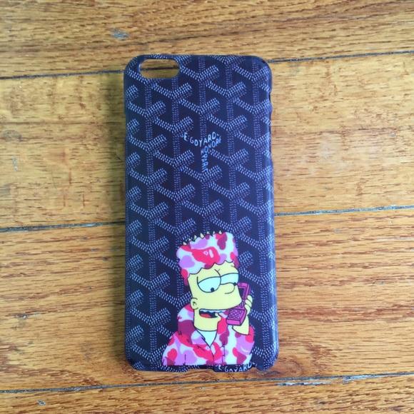 Killa Bape Bart Iphone 6 Plus Case Black Nwt