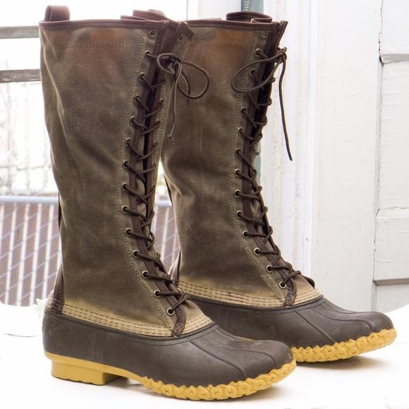 2b2ae0cd973 LL Bean duck boot, waxed canvas/Maine hunting shoe NWT
