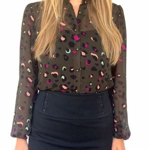Forever 21 Tops - Cheetah print blouse