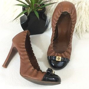 Tory Burch chestnut leather heels