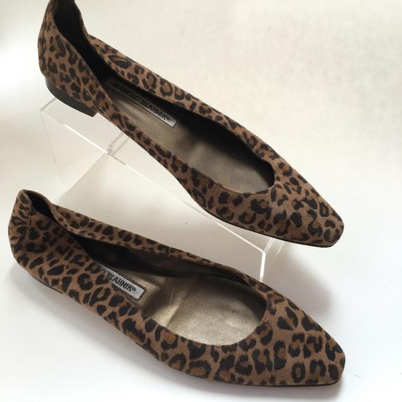 ca4939463f11 Manolo Blahnik Shoes | Manolo Blahnik Leopard Print Ballet Flats 39 ...