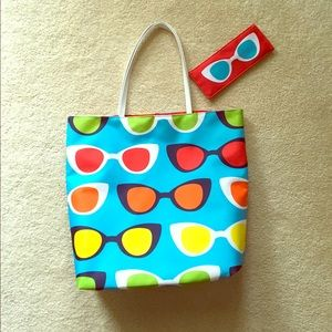 Beach Bag & Sunglasses Case