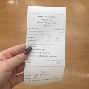 Other - Trade receipt