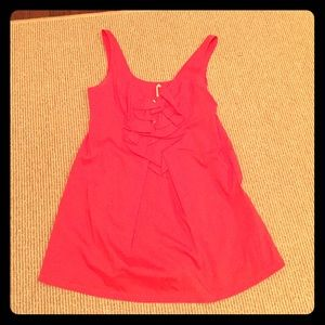 Pink A-line tunic top