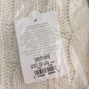 a1a8f414894d Restoration Hardware Shoes - RH baby child cable knit   faux fur slipper XXL