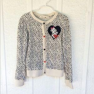 GIRLS Dalmatian cardigan