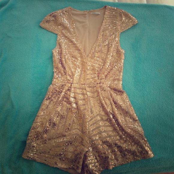 4114948eddad Charlotte Russe Dresses   Skirts - Charlotte Russe sequin romper