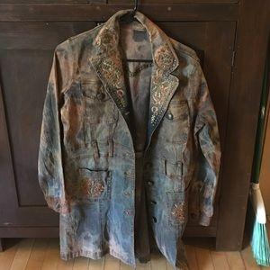 Hand dyed jacket