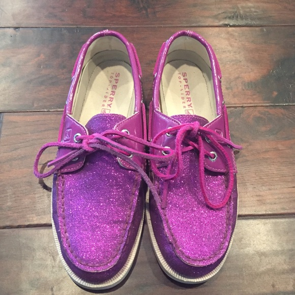 Sperry Other - Sperry Top-Sider Purple Glitter Shoes