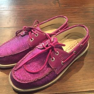 Sperry Shoes - Sperry Top-Sider Purple Glitter Shoes