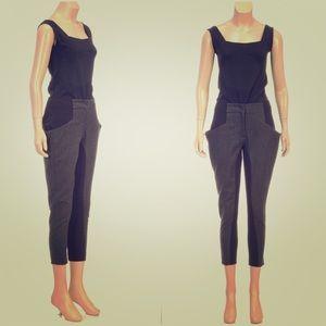 Zero + Maria Cornejo Pants - ZERO + Maria Cornejo Black Knit Riding Chino Pants