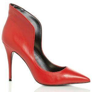 High collar women pump shoes size 8