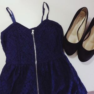 Kersh Dresses & Skirts - Floral Lace Dress with Front Zipper