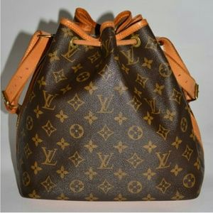 Authentic Louis Vuitton canvass petit noe bag