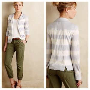 Anthropologie Jackets & Blazers - Anthro Banded Stripes soft blazer