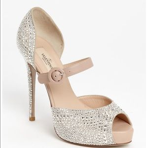 Valentino Shoes - Valentino Microstud Mary Jane Pumps