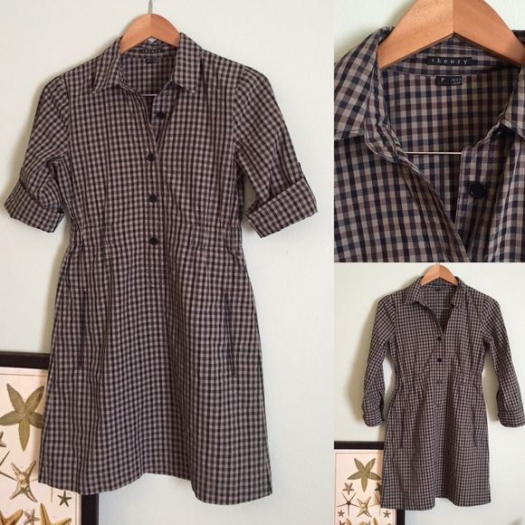 b1104e4a57 SALE🎉 Theory Plaid Shirt Dress S P. M_57a5114d291a35ab3000862d