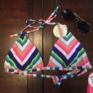 Hula Honey Other - NEW Hula Honey Reversible Triangle Bikini top