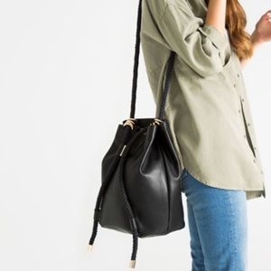 Zara convertible bucket bag black