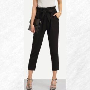 67 Off Pants Favorite Black Linen Fold Waist Pants From