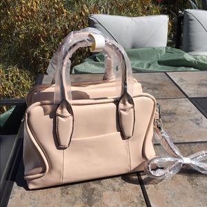 Aimee Kestenberg Handbags - REDUCED Aimee Kestenberg rose Leather Satchel NWT