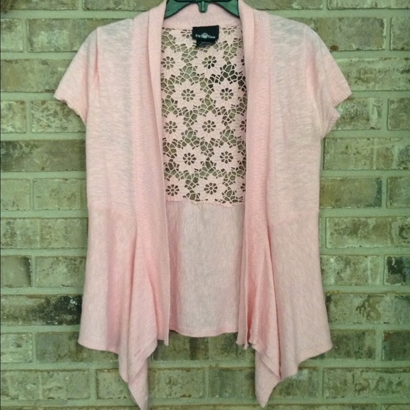 95% off aerie Sweaters - Pink short sleeve cardigan from Chelsea's ...