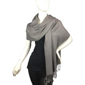 Lil+Lo Accessories - Lil+Lo Gray Pashmina Style Wrap Scarf NWT