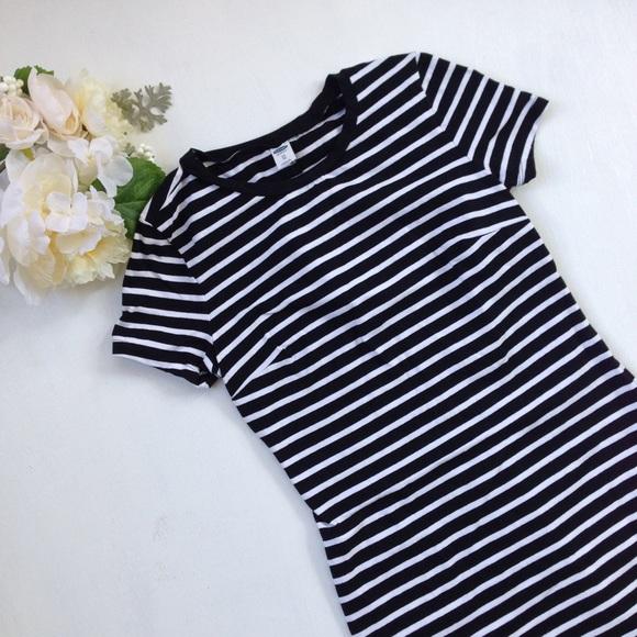 b291a5d7bac7 Old Navy Dresses   Black Striped T Shirt Shift Dress   Poshmark