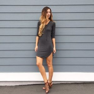 | new | lace up bodycon dress